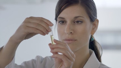 Scientist testing a dietary supplement